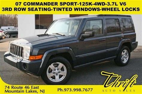 07 Jeep Commander Mpg Purchase Used 07 Commander Sport 125k 4wd V6 3rd Row