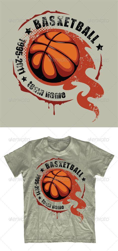 grunge basketball t shirt design by seniors templates