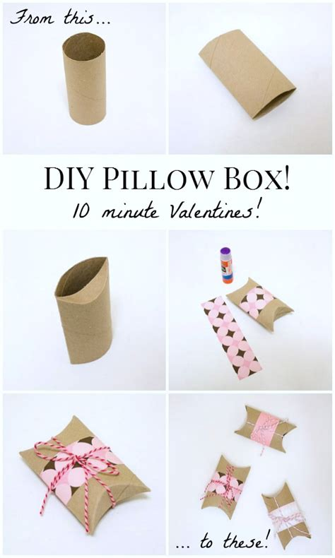 How To Make A Box Out Of Wrapping Paper - diy valentines pillow boxes pillow box diy