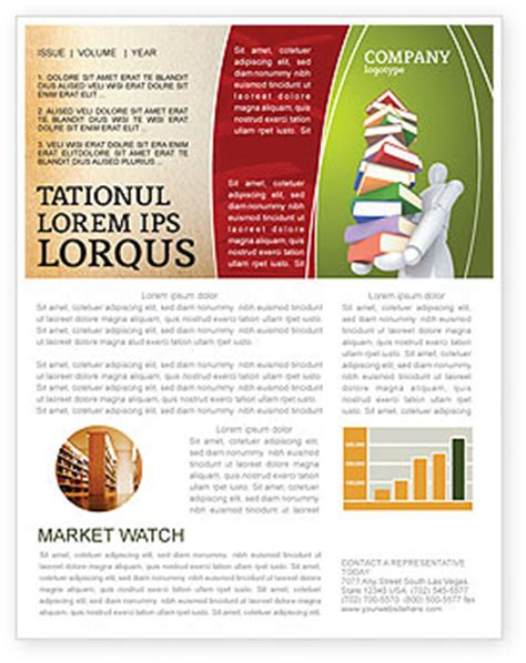 newsletter templates for books man with a stack of book newsletter template for microsoft