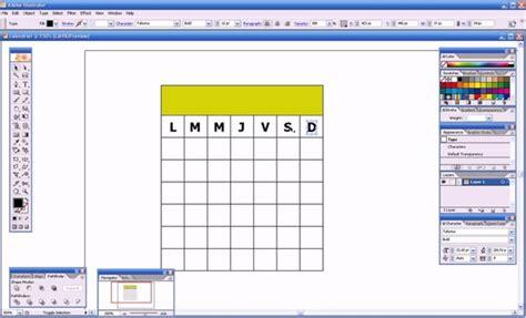 Creer Un Calendrier Cr 233 Er Un Calendrier Avec Illustrator On Vimeo