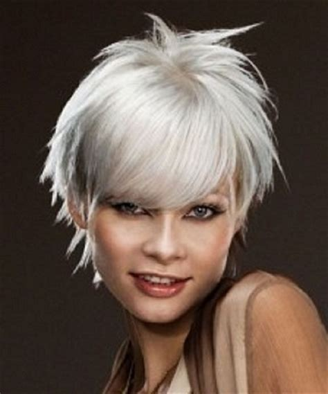 grey hair with brown foils dark brown hairs