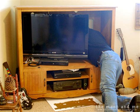 Flat Screen Armoire Remodelaholic Turn An Entertainment Center Into A Tv