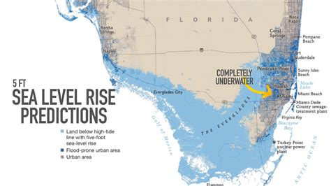 sea level rise florida map miami may be underwater by the year 2100 its agtv
