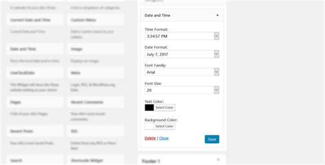 x theme blog date format 5 ways to add a date and time widget to your wordpress