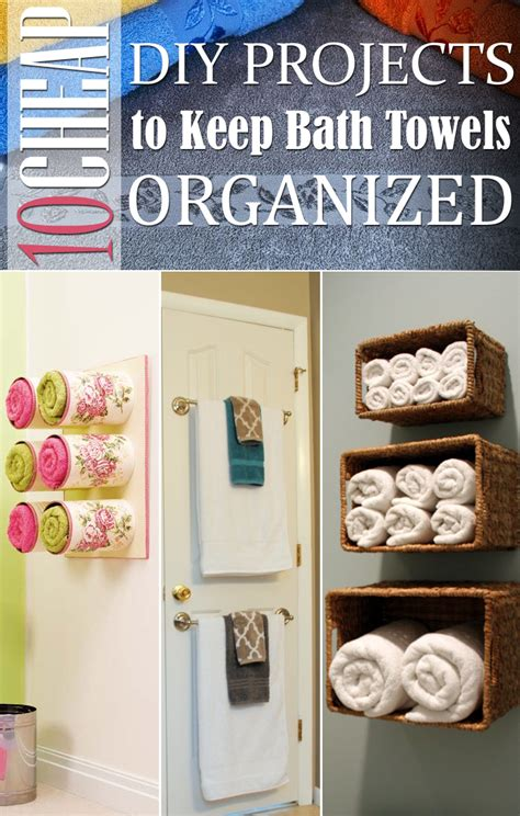 cheap diy home projects 10 cheap diy projects to keep bath towels organized