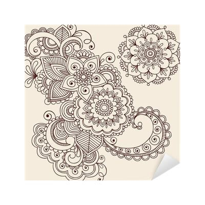 henna tattoo norge henna abstract paisley flower doodles vector