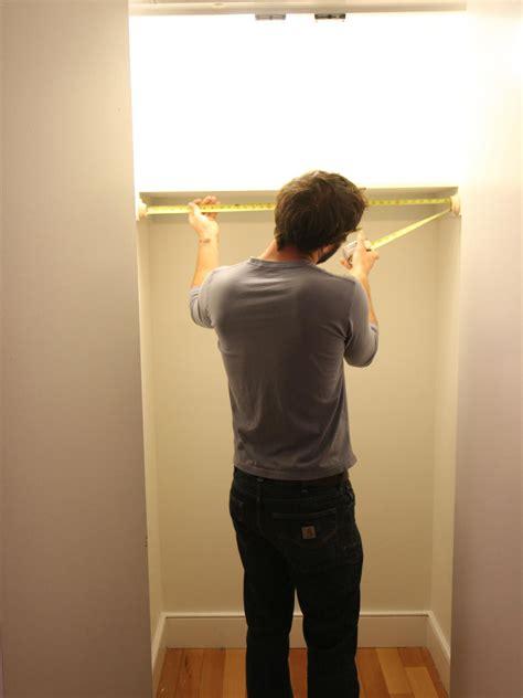 Distance Between Closet Rod And Shelf by How To Hang A Closet Rod How Tos Diy