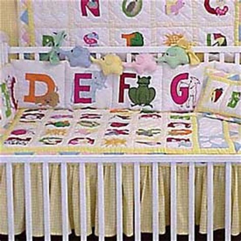Migi Alphabet Aqua Modern Neutral 4 Piece Crib Bedding Set Alphabet Crib Bedding