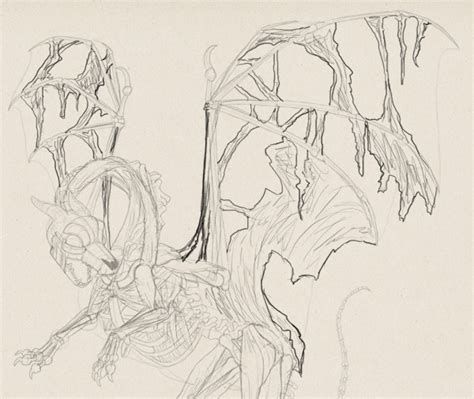 zombie dragon tutorial create zombie dragon concept art design and sketch