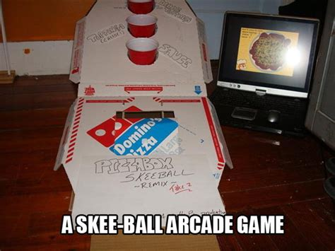amazing uses for pizza boxes a skee made from pizza boxes dump a day