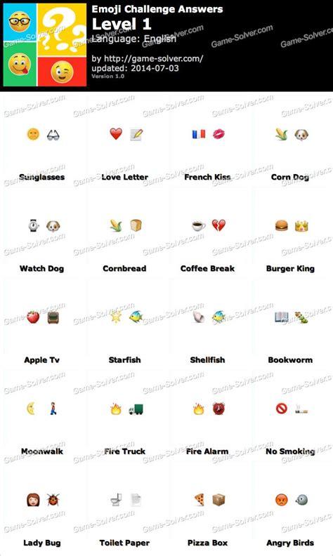 imagenes de guess the emoji level 1 emoji challenge answers game solver