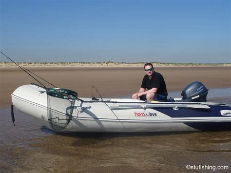 fishing out of inflatable boat first time in the honda honwave t38 ie inflatable boat