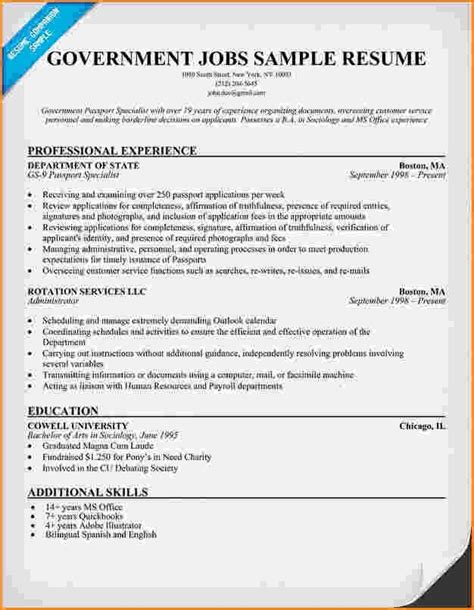 Usajobs Resume Template by Usa Resume Builder Resume Builder