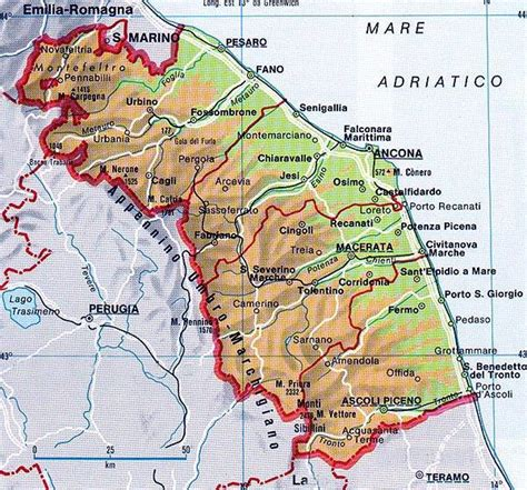 dell marche mappa delle marche cartina delle marche