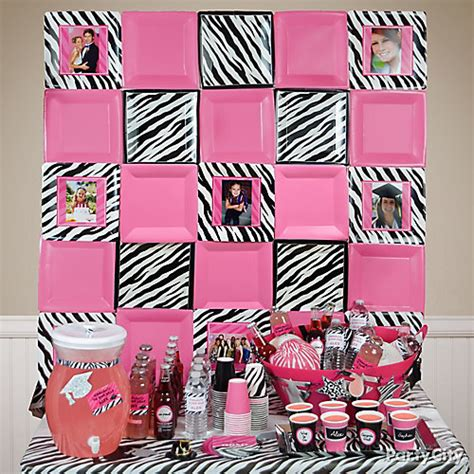 Zebra And Pink Baby Shower Decorations by Pink And Zebra Baby Shower Decorations