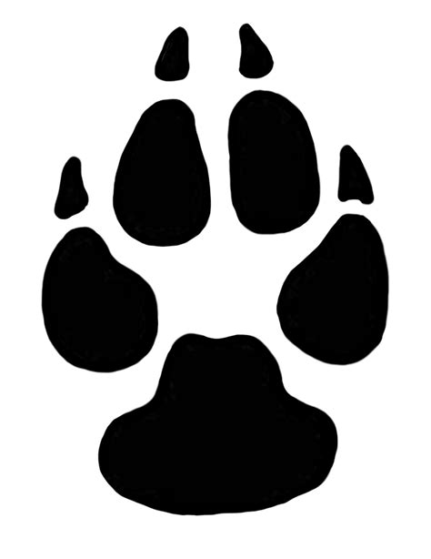 puppy paw paw prints clipart