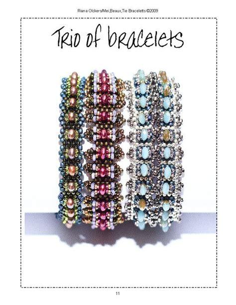 Perlenweben Vorlagen Muster trio of bracelet patterns bracelett armband