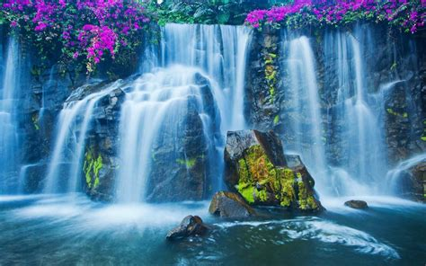 waterfall  wallpaper  android
