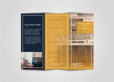 Tri Fold Brochure Free Indesign Template Tri Fold Flyer Template Indesign