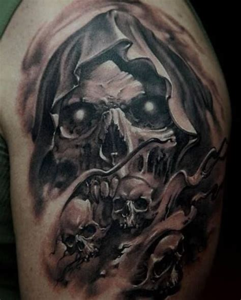 73 stylish skull shoulder tattoos