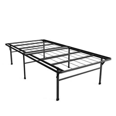 zinus high profile smartbase twin xl metal bed frame hd