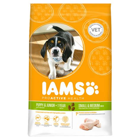 food for small dogs iams food chicken for puppys and small dogs 1kg at wilko