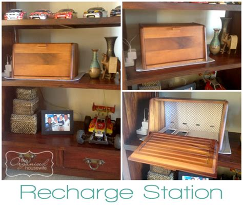 recharge station a bread box turned phone charging station the organised