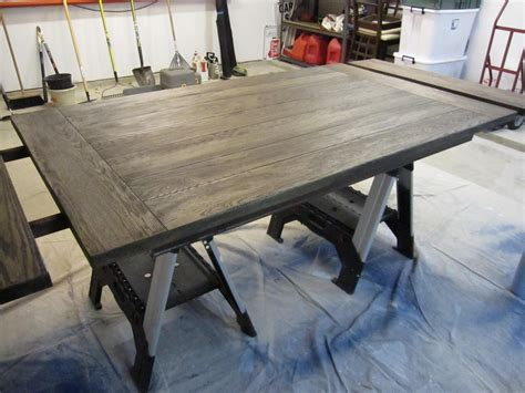 How To Stain Dining Table Dining Room Table Before After Houston Furniture Refinishing Lindauer Designs