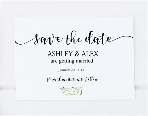 Save The Date Template Printable Save The Date Save The Date Save The Date Template