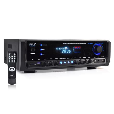 pyle bluetooth wireless ch  amp amplifier home