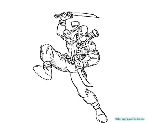 Color Your Own Deadpool Coloring Pages Inside Deappool Color Your Own Wolverine