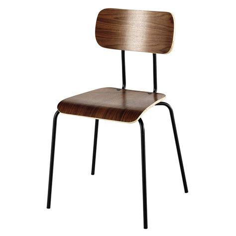 rivestimento sedia sedia in metallo e rivestimento in noce walnut maisons