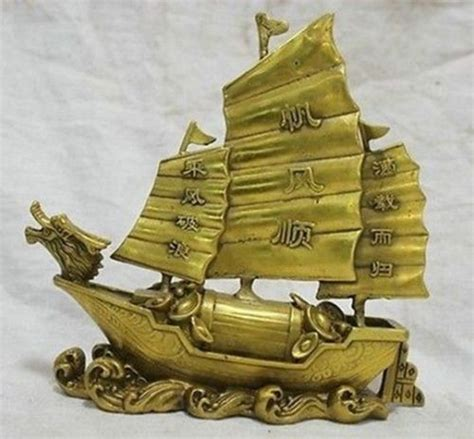 boat pictures feng shui feng shui brass wealth ship with wealth ingots my feng