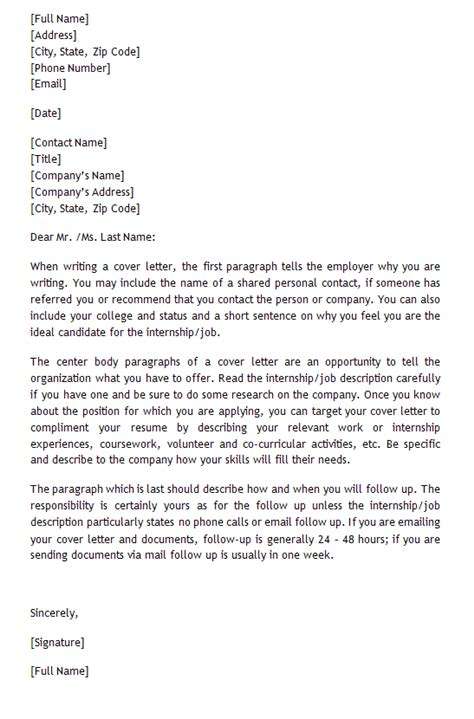 cover letter sle for internship experience resumes