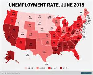 us unemployment rate by county map june state unemployment rate map business insider
