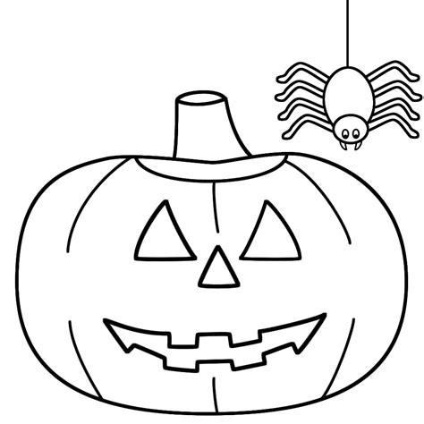 Easy Coloring Pages For Halloween | coloring pages simple halloween coloring pages download