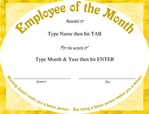 employee of month template employee of the month template cyberuse
