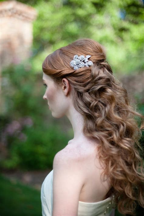 Wedding Hair Up Curls by Feminine Wavy Bridal Hairstyles Collection
