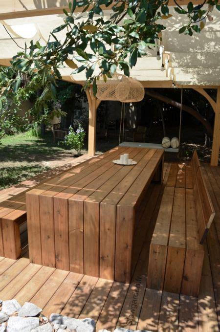 mobilier patio sunday song 176 176 lit suspendu pergola et bancs