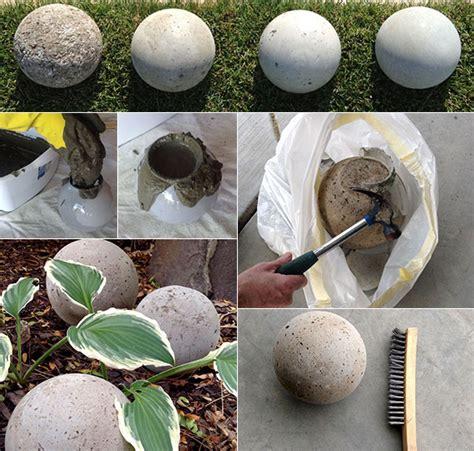 basteln aus ästen gartenkugeln basteln aus beton als beispiel f 252 r moderne