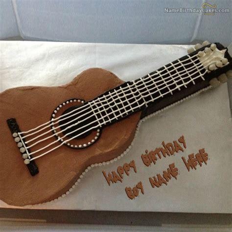 happy birthday guitar design write name on guitar birthday cake for boys happy