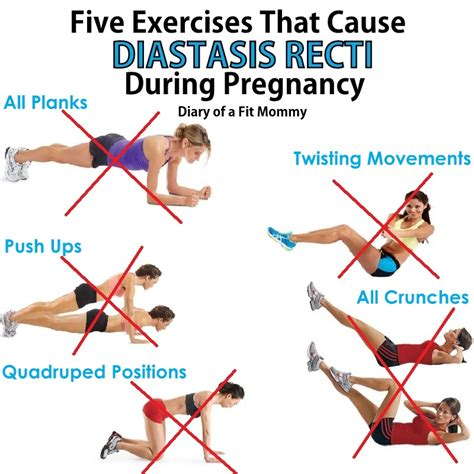 diary of a fit mommy5 exercises that cause diastasis recti