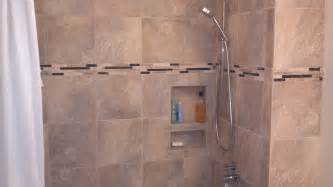 Shower Tile Installation Guest Bath Remodel Porcelain Tile Tile Installation
