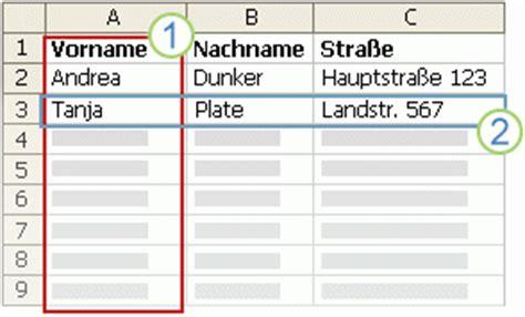 Adressen Aus Excel Etiketten Drucken by Erstellen Und Drucken Adressetiketten F 252 R Eine