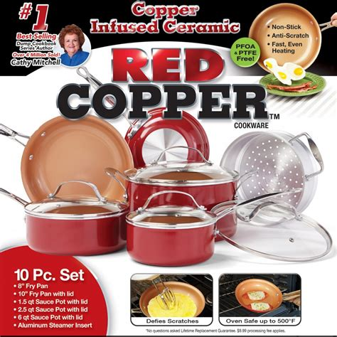 Bed And Bath Shower Curtains as seen on tv red copper pan ceramic cookware 10 piece set