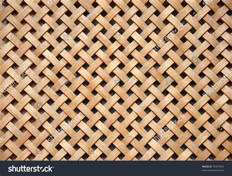 grid pattern wood wooden grid background woven wood stock photo 74497036