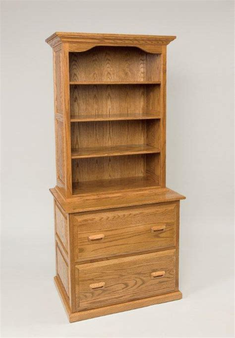 Bookcase Cabinet Amish File Cabinet With Bookcase Top