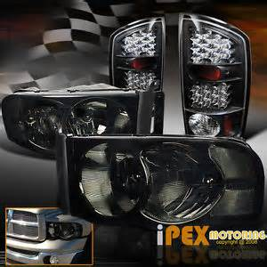 smoke black 2002 2005 dodge ram 1500 2500 3500 headlights
