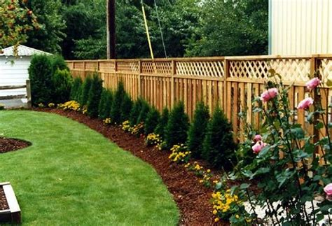 fence line landscaping best idea garden